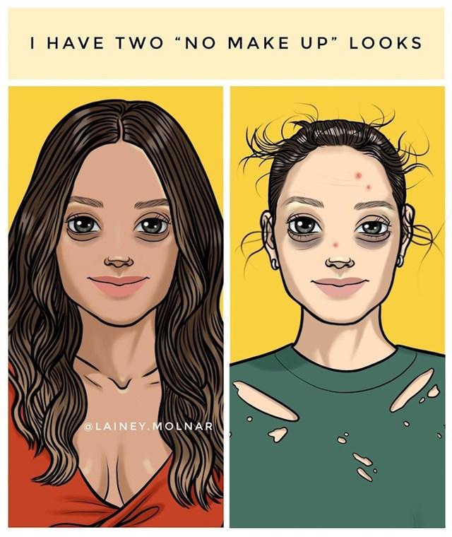 """Dva """"no make up"""" izgleda"""