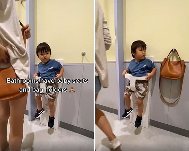 Javni WC obavezno ima i držač za djecu i torbe