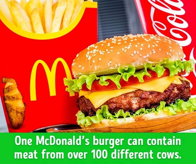 1 McDonaldsov burger može sadržavati meso 100 različitih krava