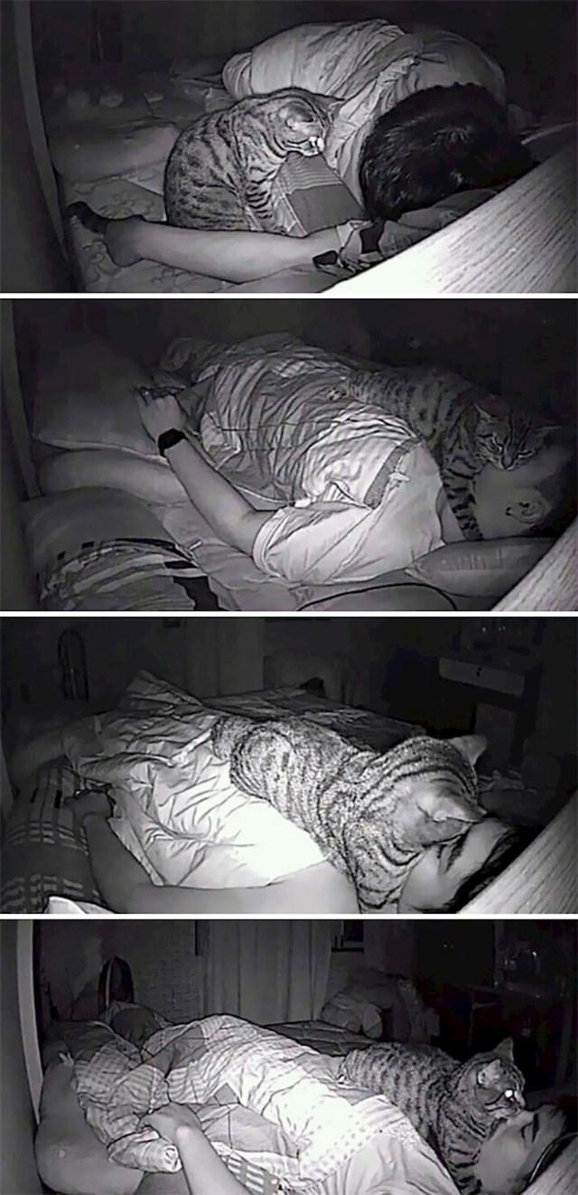 Instalirao je kameru da vidi što mu maca radi noću