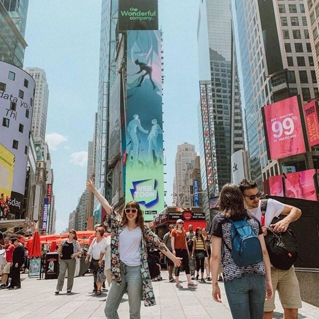 Od moje knjige napravljen je webtoon koji se oglašava na Times Squareu.