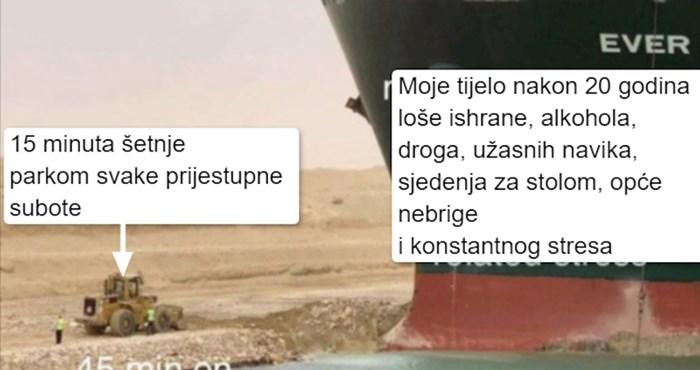 Barem jedna dobra stvar je proizašla od ogromnog broda koji je blokirao Suez - ovi urnebesni memeovi