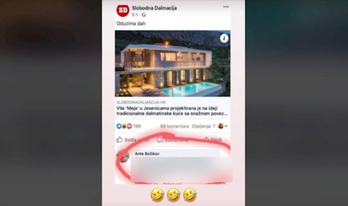 Komentar na članak o raskošnoj vili u Dalmaciji nasmijao je cijelu Hrvatsku
