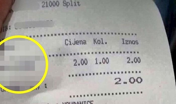 U Splitu sve ima svoju cijenu, pogledajte kakav su račun dobili gosti ovog kafića
