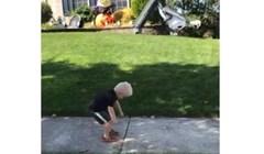 Reakcija ovog dječaka na napuhanca na vjetru je preslatka