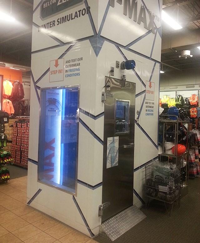 Ovaj dućan ima simulator hladnoće kako biste mogli isprobati zimsku odjeću koju kupujete