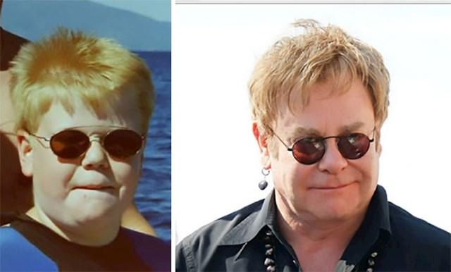 Ovo sam ja s 12 godina, izgledao sam isto kao Elton John sada
