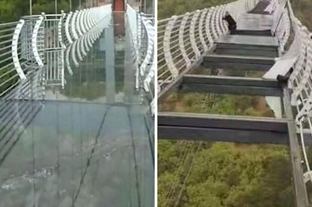 Turisti zatočeni na panoramskom mostu nakon što je pukao stakleni pod