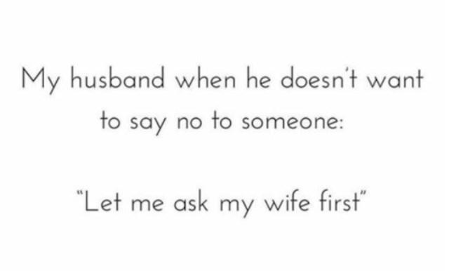 Opravdanje svakog muškarca kad mu se nešto ne da: Moram prvo pitati ženu mogu li