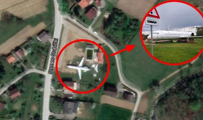 Viralna fotka: U dvorištu kuće kraj Zagreba parkirao ogromni avion, vidi se iz satelita