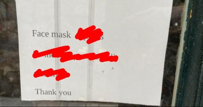 Širi se fotka iz Dubrovnika: Morate vidjeti kako je vlasnik obavijestio kupce da su maske obavezne