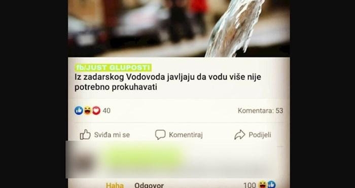 U Zadru su objavili da vodu više ne treba prokuhavati, majstor je ubio u komentaru