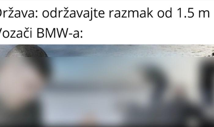 Ljudi umiru od smijeha na fotku koja sprda vozače BMW-a nakon novih mjera