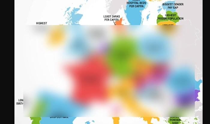 Mapa otkriva jednu stvar po kojoj je posebna svaka od EU država, Hrvati neće biti sretni