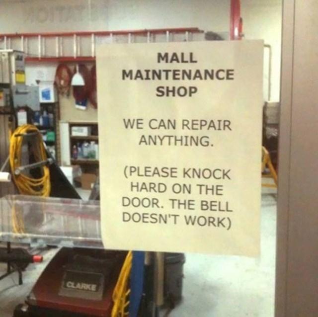 Oni mogu popraviti sve! Osim svog zvona, izgleda