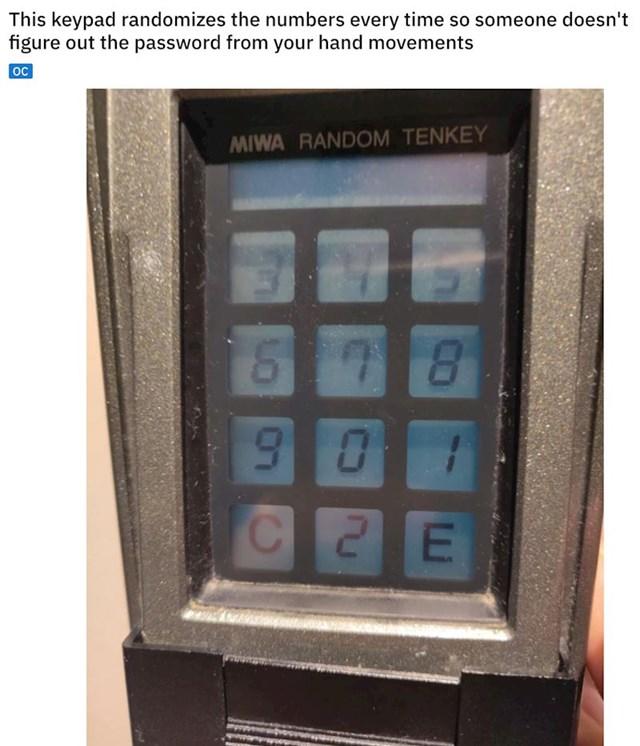 Tipkovnica koja svaki put promiješa brojeve da netko pokretima ruke ne bi pogodio vaš PIN