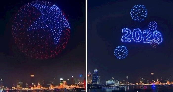 2 000 dronova osvijetlilo je novogodišnju noć u Šangaju koje su upotrijebili umjesto vatrometa