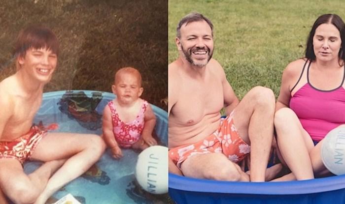 Brat i sestra rekreirali su fotke iz djetinjstva povodom maminog 70. rođendana