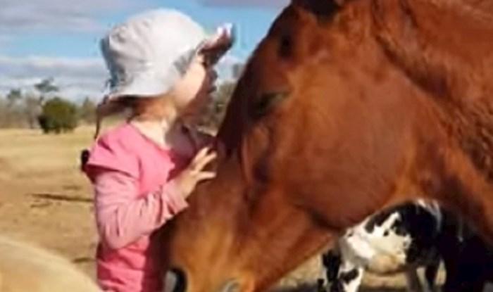 Roditelji su snimili nevjerojatnu povezanost djevojčice i konja, jedna stvar ih je posebno dirnula