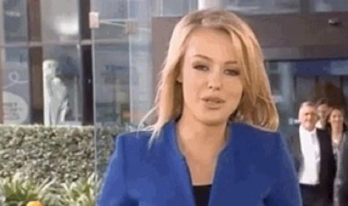 Reporterka se javljala uživo u studio, nije ni slutila tko će joj to upasti u kadar