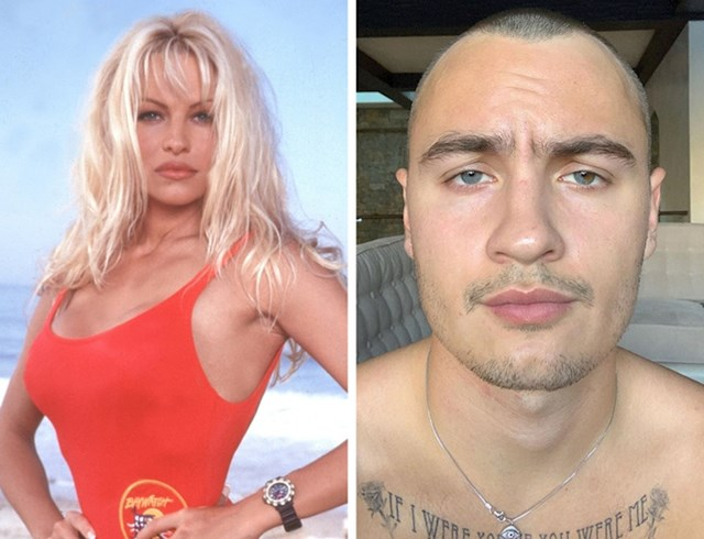 Pamela Anderson i sin Brandon Thomas Lee