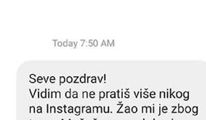 Lik je poslao Severini poruku na Instagramu i nasmijao cijelu regiju