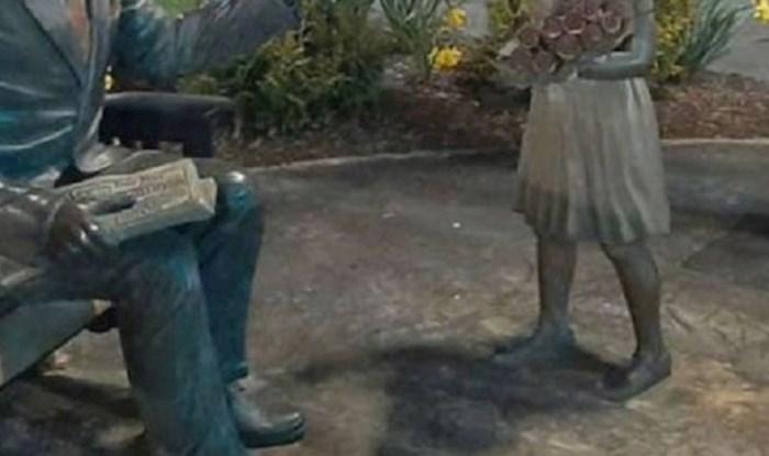 Netko je ove kipove ukrasio nečim što ovih dana svi trebamo i poslao snažnu poruku