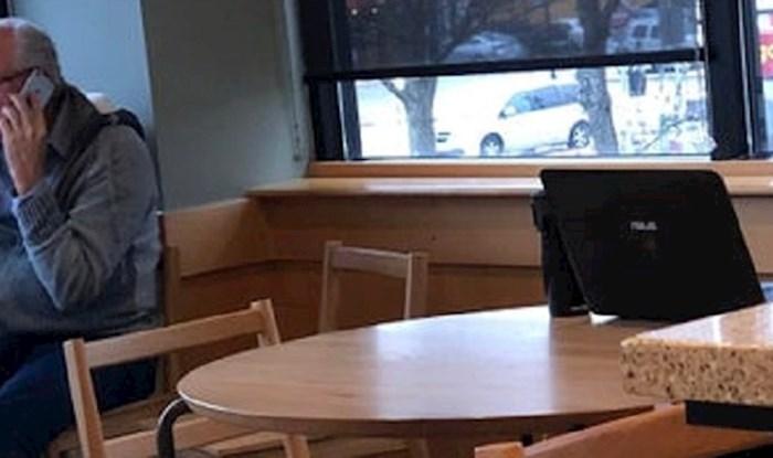 """""""On sigurno jako mrzi biti doma"""" - nisu mogli vjerovati što je ovaj čovjek donio u kafić"""