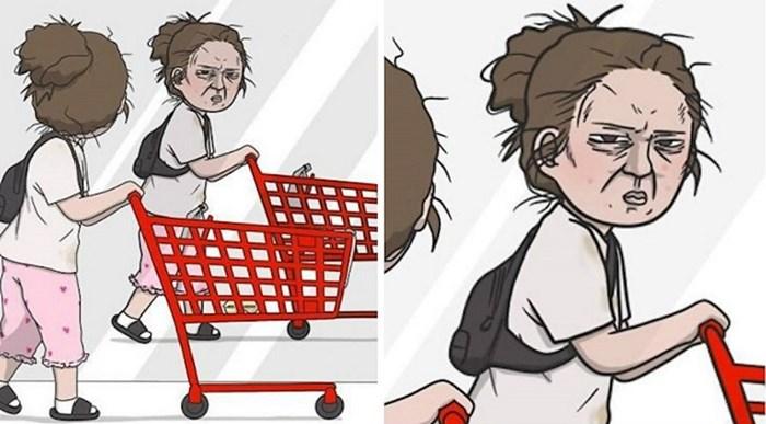 Umjetnica crta stripove svojih svakodnevnih problema u kojima će se pronaći svaka cura