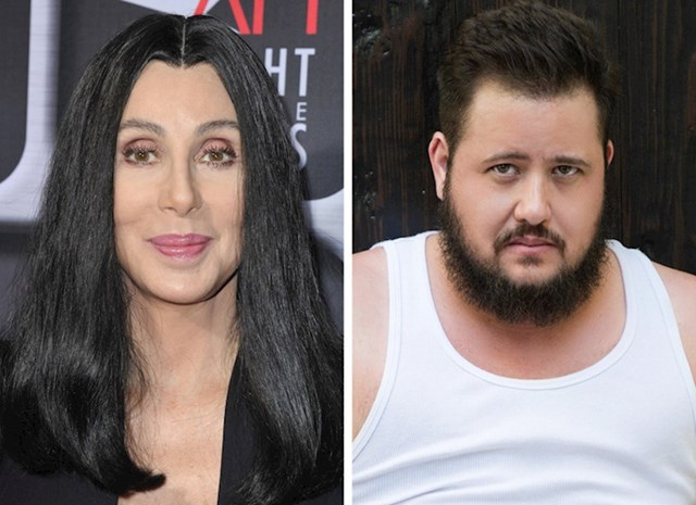 Cher i sin Chaz Bono