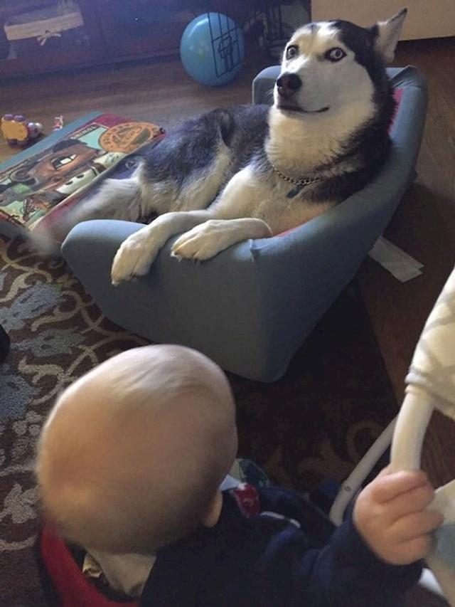 """""""Njen izraz lica kada joj kažem da to nije njen krevet i da ga mora vratiti bebi"""""""