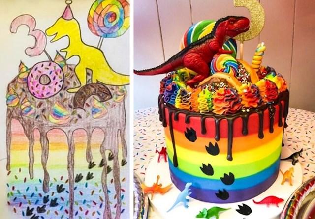 """""""Moj trogodišnjak je zatražio tortu s krafnama, nacrtala sam ovo i odnijela crtež u lokalnu slastičarnicu"""""""