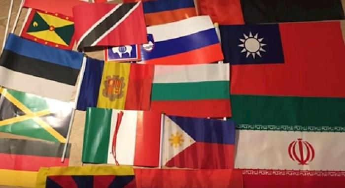 VIDEO Lik je od svih država na svijetu tražio da mu pošalju zastavu