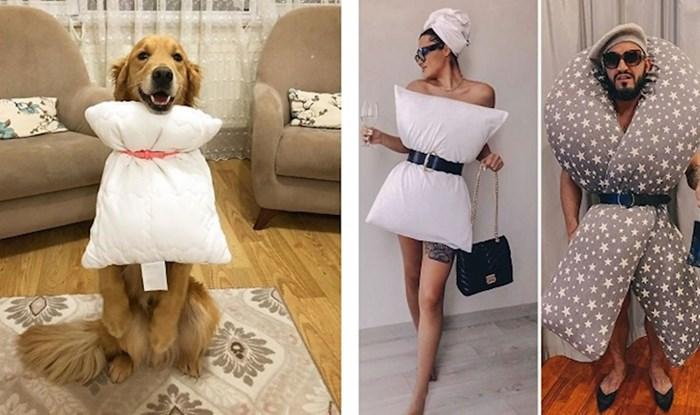 Na Instagramu vlada novi izazov s jastucima kao odjećom, ljudi su se totalno navukli