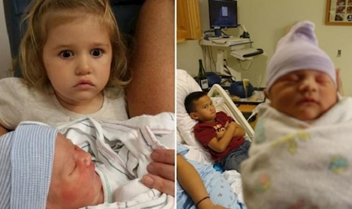 Klinci koji su bili jako razočarani zbog nove bebe u obitelji