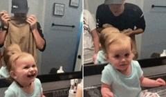 Kćerkica je ugledala tatu prvi put bez brade i prilično se iznenadila