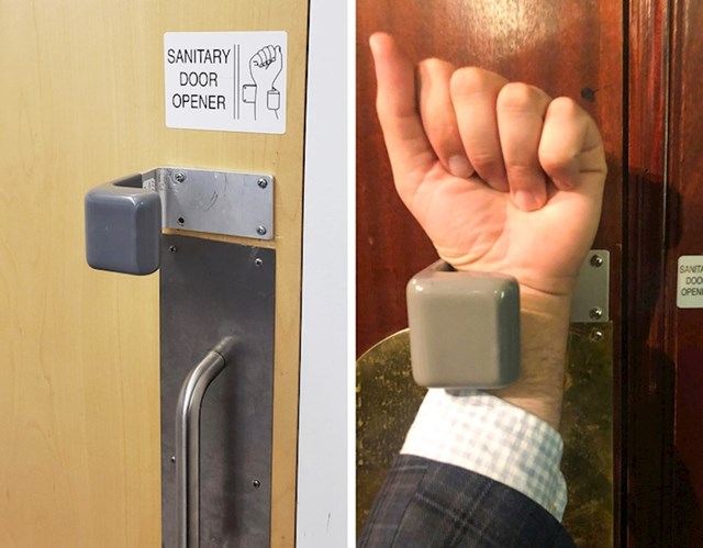 Posebne kvake kako ne bi morali dlanom dotaknuti vrata
