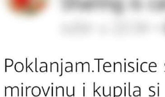 Žena je htjela nekome pokloniti tenisice, ali ovo što je napisala nitko nije uspio dešifrirati
