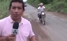Ovaj reporter javljao se uživo na televiziju, nije imao pojma kakvu će ludu sreću imati kroz par trenutaka