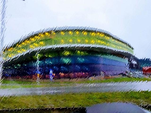 Kišni pogled koji izgleda kao umjetničko djelo