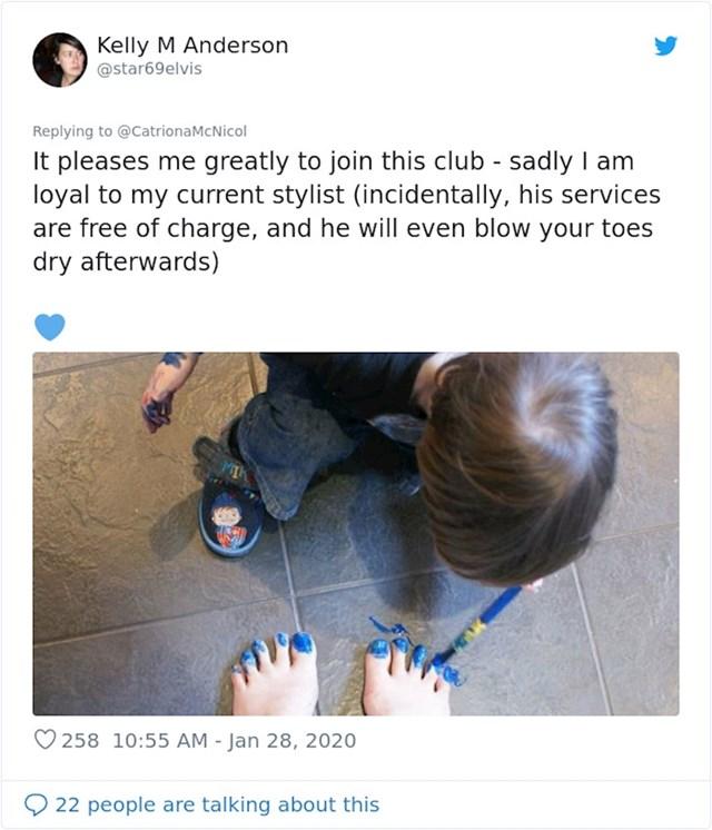 """""""Zadovoljstvo mi je pridružiti se ovom klubu. Nažalost, vjerna sam svom kozmetičaru, njegove usluge su besplatne..."""""""
