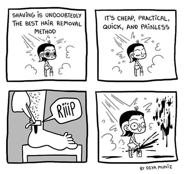 Ono kad briješ noge i skoro ostaneš bez noge...