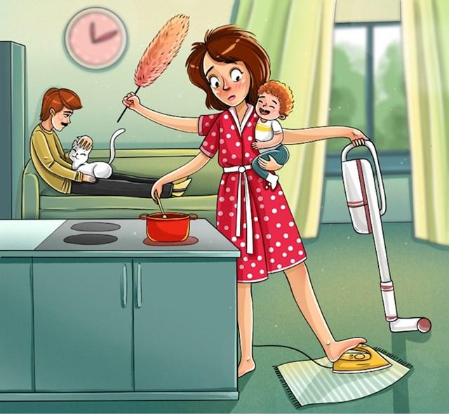 Mama obavlja sve kućanske poslove