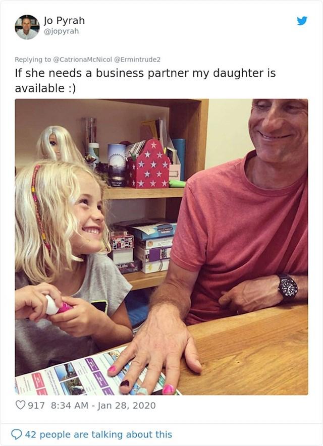 """""""Ako treba poslovnog partnera, moja kćer je dostupna."""""""
