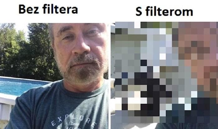 """Tata nasmijao društvene mreže svojom fotkom s """"filterom"""", ovo je urnebesno"""
