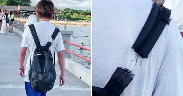 Ovaj ruksak se drži doslovno na jednom koncu
