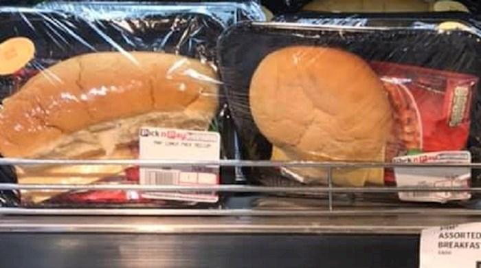 Bizarno pakiranje sendviča začudilo kupce u dućanu