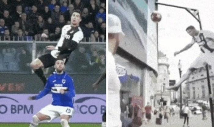 Postavili su maketu Cristiana Ronalda s loptom u skoku, prolaznici su je pokušavali dohvatiti