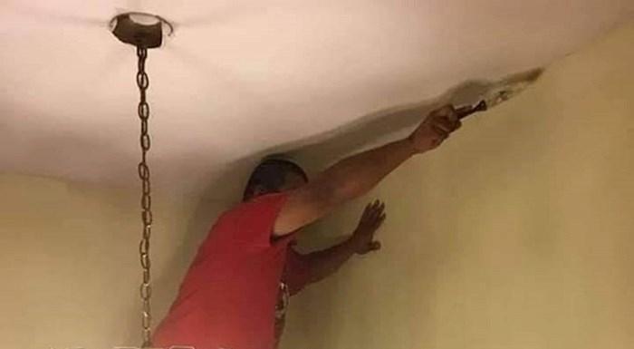 Lik je ličio zidove a nije imao ljestve, evo kako se snašao