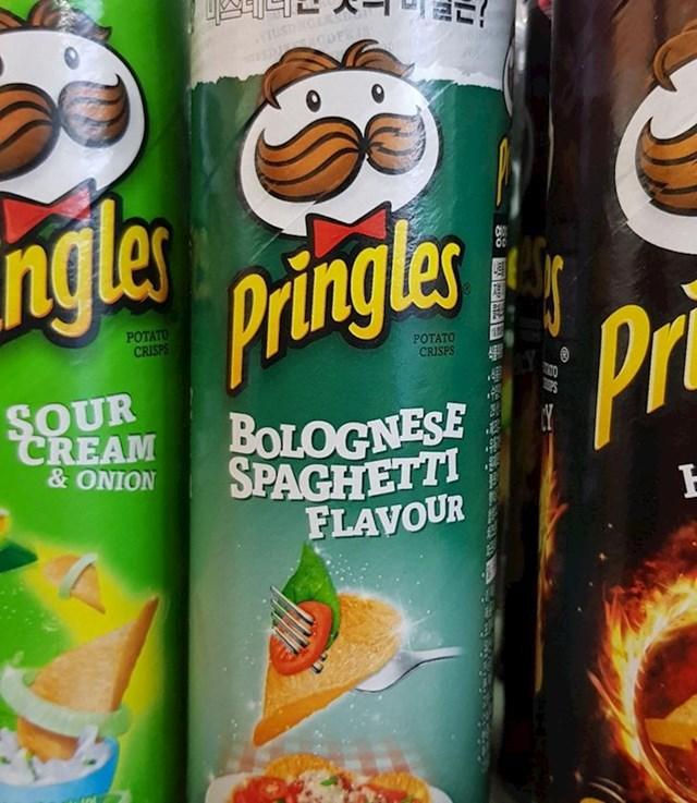 Čips Pringles okusa špageta bolonjez